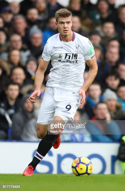 Alexander Sørloth of Crystal Palace during the Premier League match between Everton and Crystal Palace at Goodison Park on February 10 2018 in...