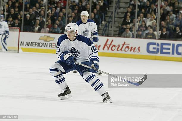 Alexander Steen of the Toronto Maple Leafs skates against the Buffalo Sabres on January 11, 2007 at HSBC Arena in Buffalo, New York. The Leafs won...