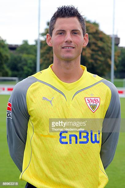 Alexander Stolz poses during the 1st Bundesliga Team Presentation of VfB Stuttgart on July 10 2009 in Stuttgart Germany