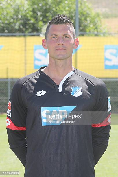 Alexander Stolz poses during the offical team presentation of TSG 1899 Hoffenheim on July 19 2016 in Sinsheim Germany