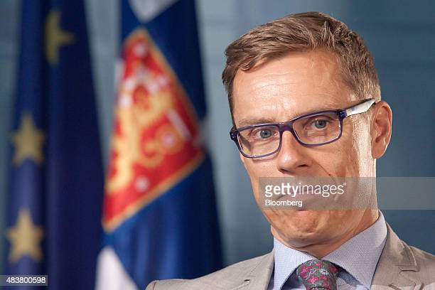 Alexander Stubb Finland's finance minister pauses during an interview in Helsinki Finland on Thursday Aug 13 2015 Stubb said he's confident that...