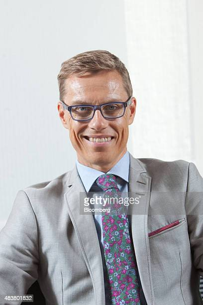Alexander Stubb Finland's finance minister poses for a photograph in Helsinki Finland on Thursday Aug 13 2015 Stubb said he's confident that euroarea...