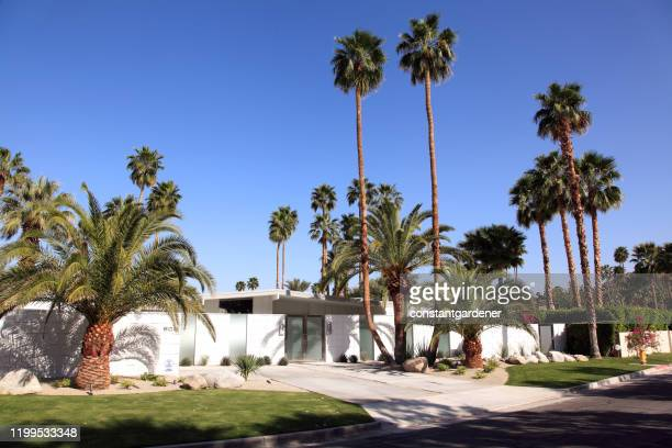 alexander style mid century architecture palm springs california - mid century modern stock pictures, royalty-free photos & images