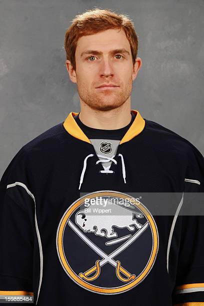 Alexander Sulzer of the Buffalo Sabres poses for his official headshot for the 20122013 season on January 13 2013 at the First Niagara Center in...