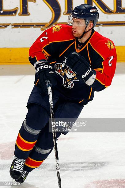 Alexander Sulzer of the Florida Panthers skates on the ice against the Montreal Canadiens at the BankAtlantic Center on March 3 2011 in Sunrise...
