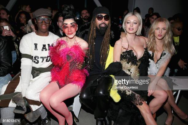 J Alexander Susanne Bartch Ty Hunter Caroline Vreeland and Iskra Lawrence attend The Blonds front row during New York Fashion Week The Shows at...