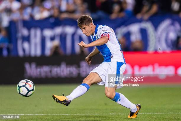 Alexander Szymanowski of CD Leganes in action during the La Liga 201718 match between CD Leganes and Atletico de Madrid on 30 September 2017 in...