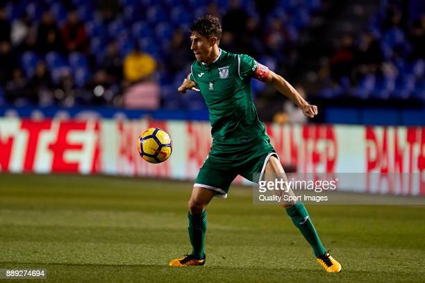 Alexander Szymanowski of CD Leganes in action during the La Liga match between Deportivo La Coruna and Leganes at Abanca Riazor Stadium on December 9...