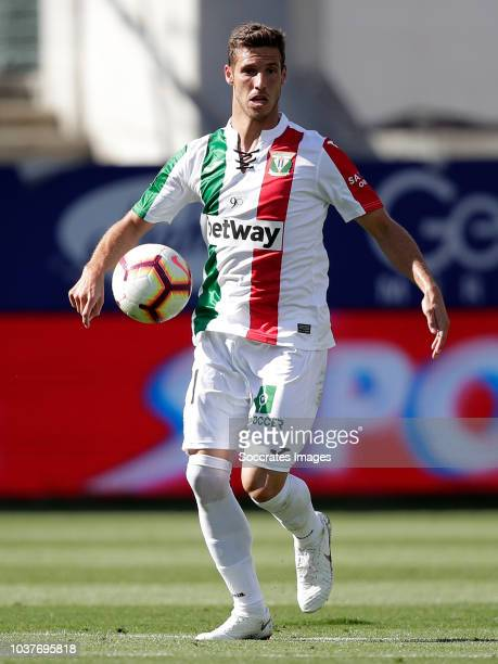 Alexander Szymanowski of Leganes during the La Liga Santander match between Eibar v Leganes at the Estadio Municipal de Ipurua on September 22 2018...