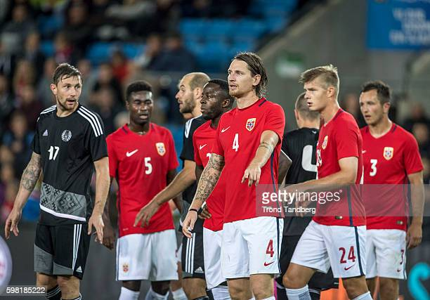 Alexander Tettey Stefan Strandberg Adama Diomande Alexander Soerloth Even Hovland of Norway during the match between Norway and Belarus at Ullevaal...
