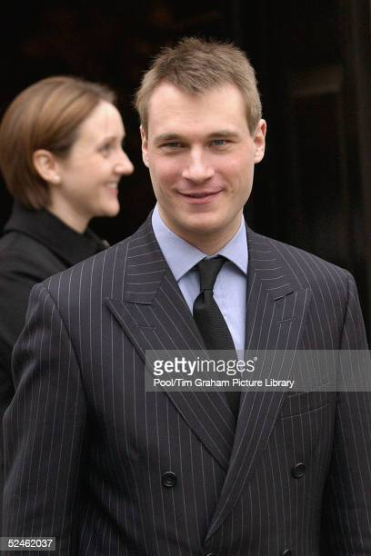 Alexander the Earl of Ulster attends the memorial service for his grandmother HRH Princess Alice at St Clement Danes on February 2 2005 in London...