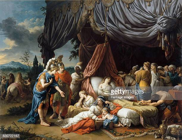 Alexander the Great and Hephaestion at the Deathbed of the wife of Darius III Found in the collection of Louvre Paris