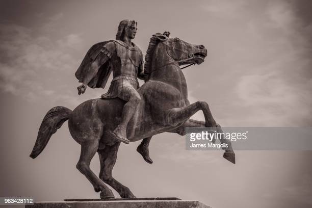 alexander the great and his horse - alexander the great stock pictures, royalty-free photos & images