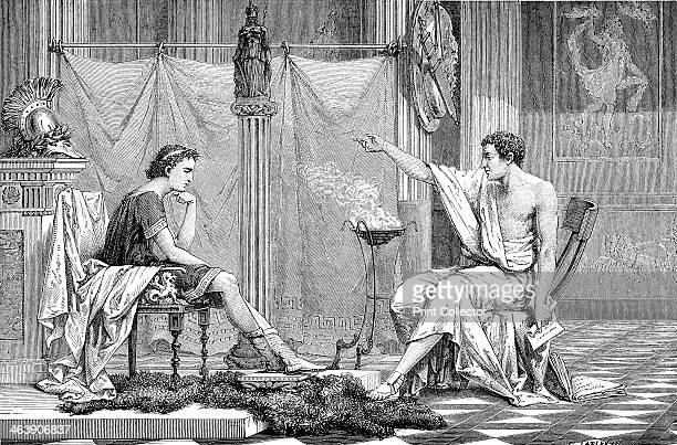 Alexander the Great as a youth listening to his tutor Aristotle c1875 In only 13 years Alexander III of Macedon conquered a vast empire stretching...
