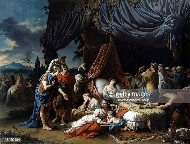 Alexander the Great at the Deathbed of the wife of Darius III' 1785. Oil on canvas. Louis Lagrenee French Neo-Classical painter. Stateira , captured...