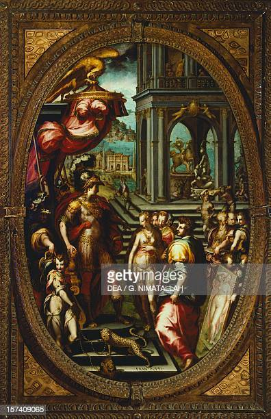 Alexander the Great giving Campaspe to Apelles by Francesco Morandini known as Il Poppi Studiolo of Francesco I Palazzo Vecchio Florence Italy 16th...