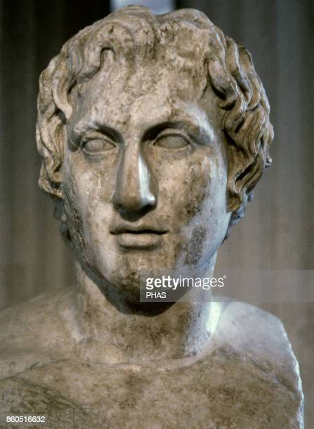 Alexander the Great King of Macedonia Bust of Alexander the Great known as Azara herm Roman copy imperial period centuries 1st2nd BC from an original...