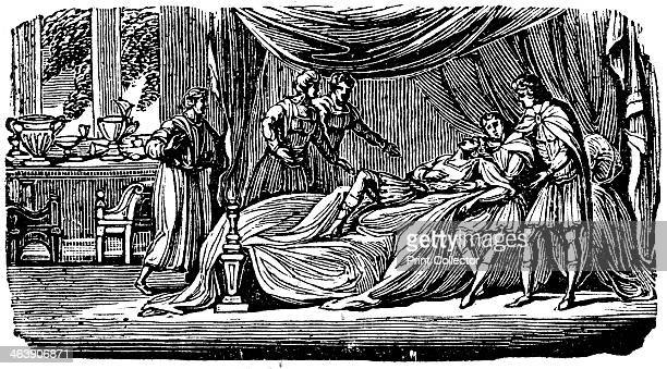 Alexander the Great on his deathbed 1830 In only 13 years Alexander III of Macedon conquered a vast empire stretching from the Mediterranean to India...