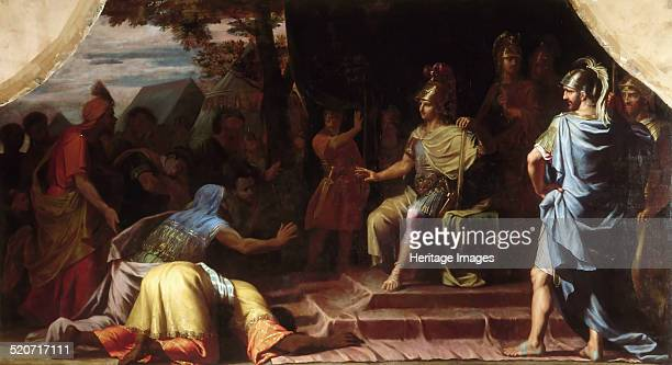 Alexander the Great receiving the news of the death by immolation of the gymnosophist Calanus Found in the collection of Musée de l'Histoire de...