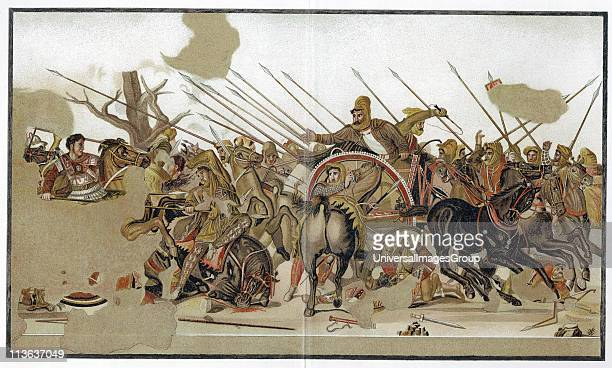 Alexander The Great The Battle of Alexander depicting defeat by Alexander of the forces of Persian king Darius III at Issus in Cilicia 333 BC After...