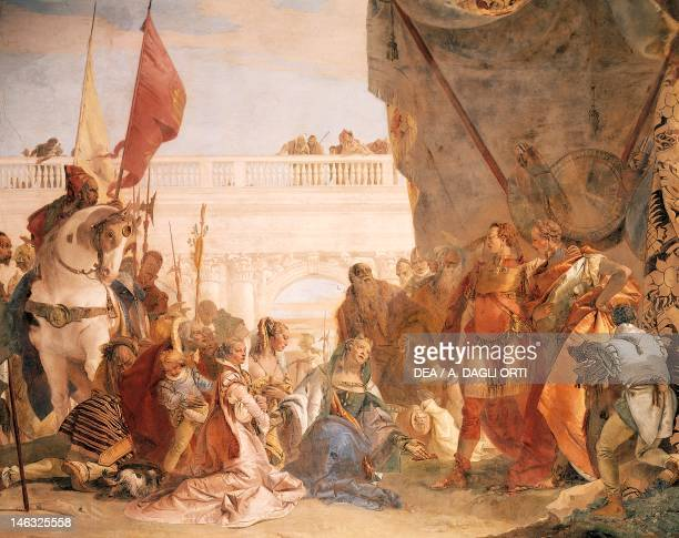 Alexander the Great with Darius' family detail from Glories of Scipio Africanus and Alexander the Great by Giambattista Tiepolo fresco Hall of Honour...
