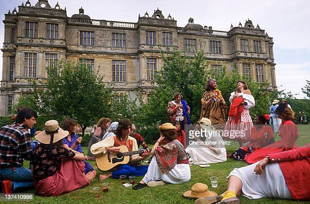 Alexander Thynn 7th Marquess of Bath celebrating the annual summer solstice with a fancy dress garden party at his home Longleat House in Wiltshire...