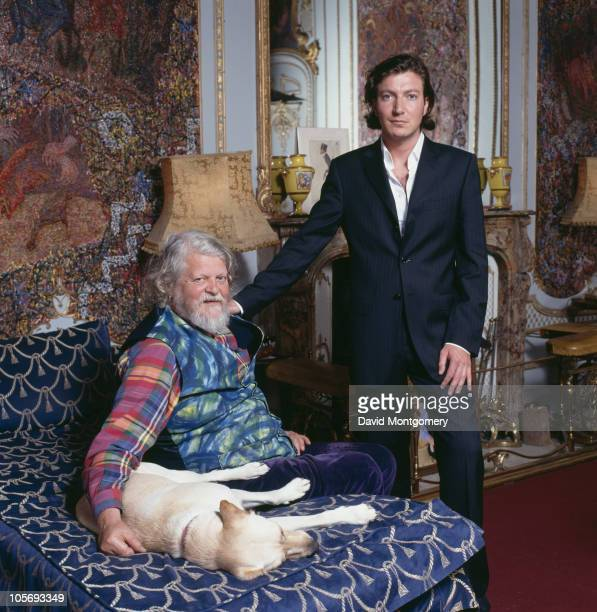Alexander Thynn 7th Marquess of Bath with his son Ceawlin Thynn Viscount Weymouth at Longleat the family seat 10th June 1984