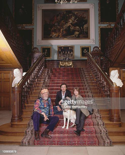 Alexander Thynn 7th Marquess of Bath with his wife Anna Gael Thynn and their son Ceawlin Thynn Viscount Weymouth at Longleat the family seat 10th...