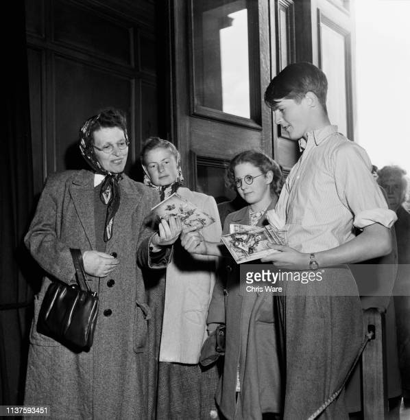 Alexander Thynn Viscount Weymouth sells guide books to visitors as they arrive at his family seat Longleat House near Warminster Wiltshire 22nd April...