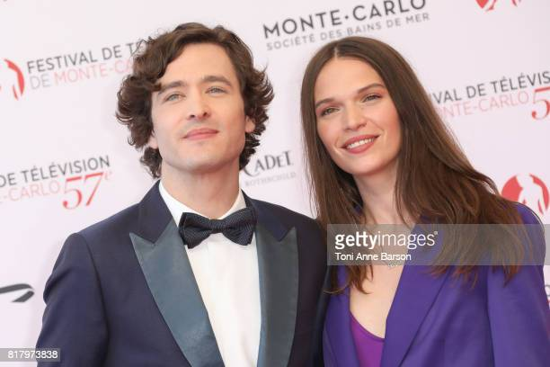 Alexander Vlahos and Anna Brewster arrive at the Opening Ceremony of the 57th Monte Carlo TV Festival and World premier of Absentia Serie on June 16...