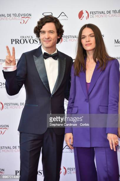 Alexander Vlahos and Anna Brewster attend the 57th Monte Carlo TV Festival Opening Ceremony on June 16 2017 in MonteCarlo Monaco