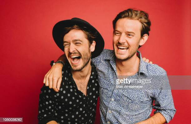 Alexander Vlahos and Evan Williams of Ovation Network's 'Versailles' poses for a portrait at Getty Images on October 02 2018 in Los Angeles California