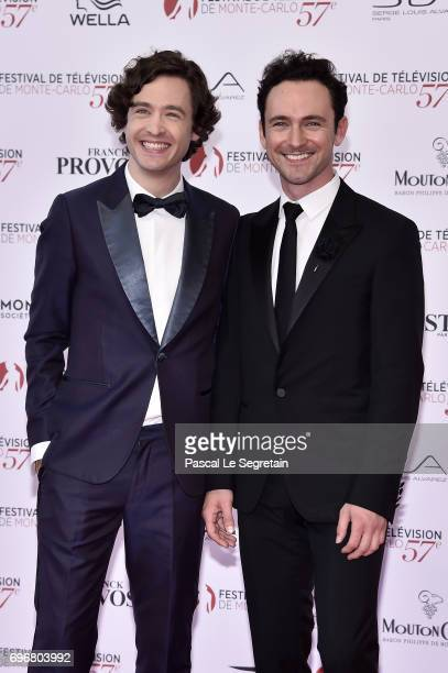 Alexander Vlahos and George Blagden attend the 57th Monte Carlo TV Festival Opening Ceremony on June 16 2017 in MonteCarlo Monaco
