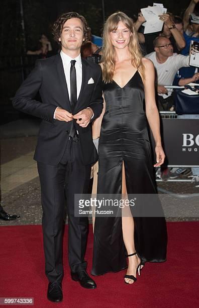 Alexander Vlahos and Kajsa Mohammar arrive for GQ Men Of The Year Awards 2016 at Tate Modern on September 6 2016 in London England