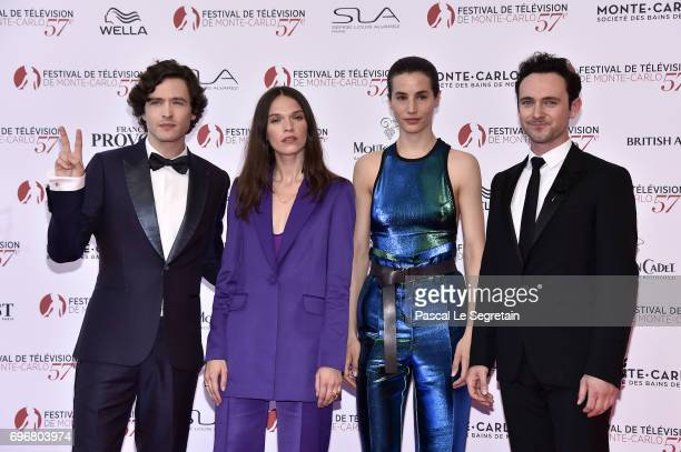 Alexander Vlahos Anna Brewster Elisa Lasowski and George Blagden attend the 57th Monte Carlo TV Festival Opening Ceremony on June 16 2017 in...