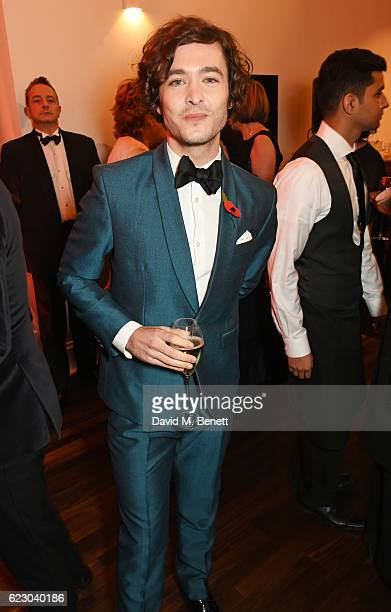 Alexander Vlahos attends a cocktail reception at The 62nd London Evening Standard Theatre Awards recognising excellence from across the world of...