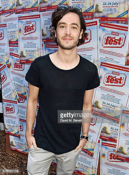 Alexander Vlahos attends as celebrity food fans enjoy dishes from all over the world at the Just Eat Food Fest at Red Market on July 21 2016 in...