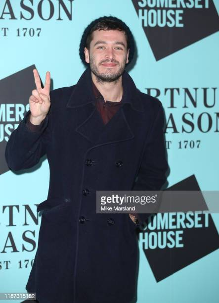 Alexander Vlahos attends the Skate At Somerset House With Fortnum & Mason VIP launch party on November 12, 2019 in London, England.
