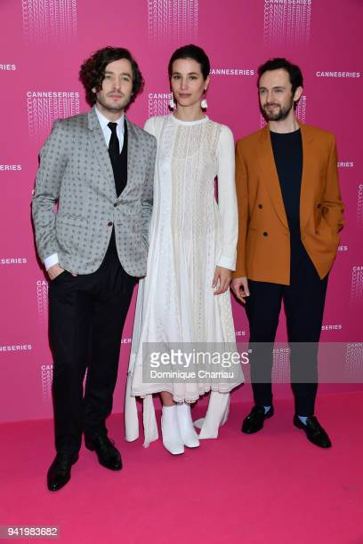 Alexander Vlahos Elisa Lasowski and George Bladgen from the 'Versailles' tv show attends opening ceremony the 1st Cannes Series Festival on April 4...
