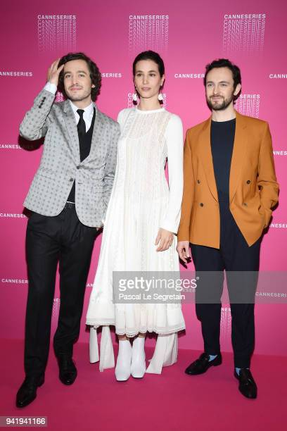 Alexander Vlahos Elisa Lasowski and George Blagden attend the Opening Ceremony and 'Versailles Season 3' screening during the 1st Cannes...