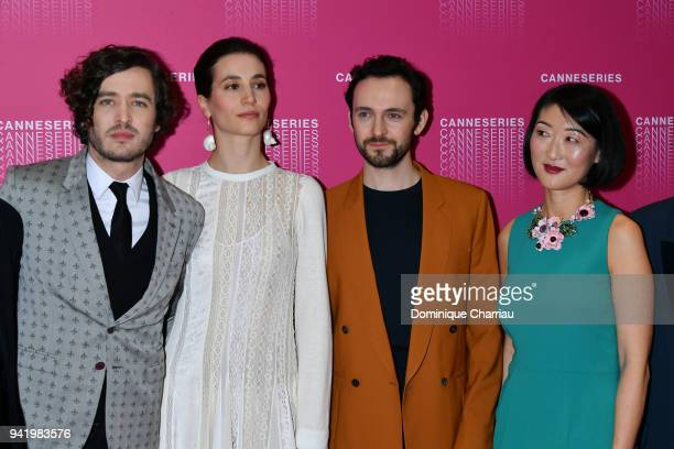 Alexander Vlahos Elisa Lasowski George Bladgen from the 'Versailles' tv show and Fleur Pellerin attends opening ceremony the 1st Canneseries Festival...