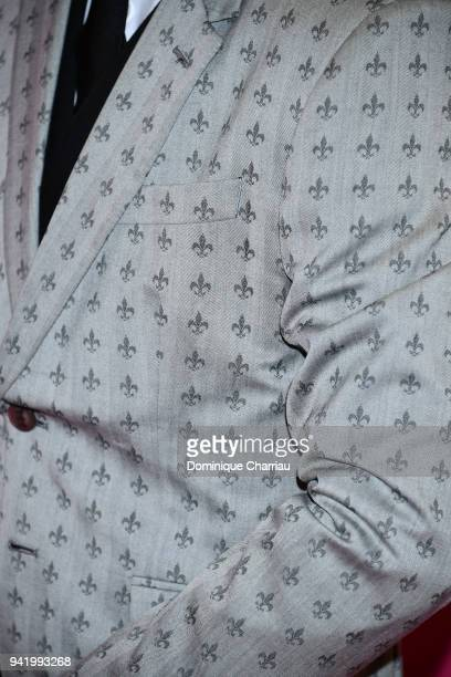 Alexander Vlahos fashion detail from the 'Versailles' tv show attends opening ceremony the 1st Cannes Series Festival on April 4 2018 in Cannes France