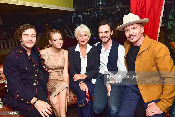 Alexander Vlahos Noemie Schmidt Helen Mirren George Blagden and Tygh Runyan attend Ovation TV Celebrates the October 1st Premiere of the...