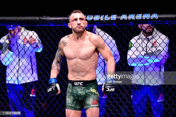 Alexander Volkanovski of Australia enters the octagon during the UFC 245 event at T-Mobile Arena on December 14, 2019 in Las Vegas, Nevada.