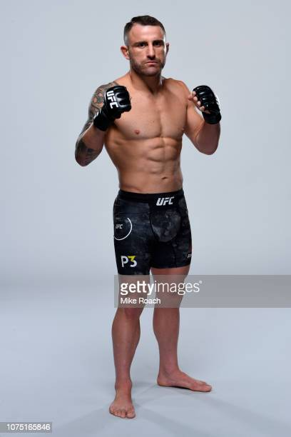 Alexander Volkanovski of Australia poses for a portrait during a UFC photo session on December 26 2018 in Las Vegas Nevada