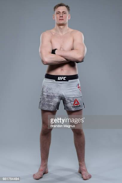 Alexander Volkov of Russia poses for a portrait during a UFC photo session on March 14 2018 in London England