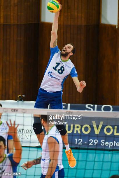 Alexander Volkov of Zenit during the Champions League CEV match between Chaumont and Zenit of St Petersburg on February 13 2019 in Reims France
