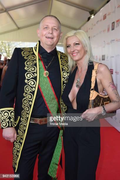 Alexander von Anhalt and his girlfriend Justine Christine attend the 'Goldene Sonne 2018' Award by SonnenklarTV on April 7 2018 in Kalkar Germany