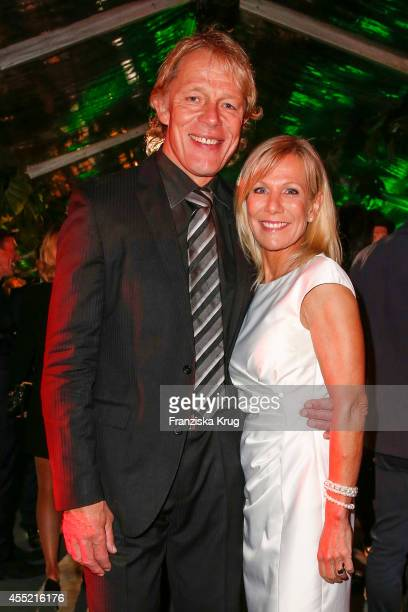 Alexander von der Groeben and his wife Ulrike von der Groeben attend the Bertelsmann Summer Party at the Bertelsmann representative office on...