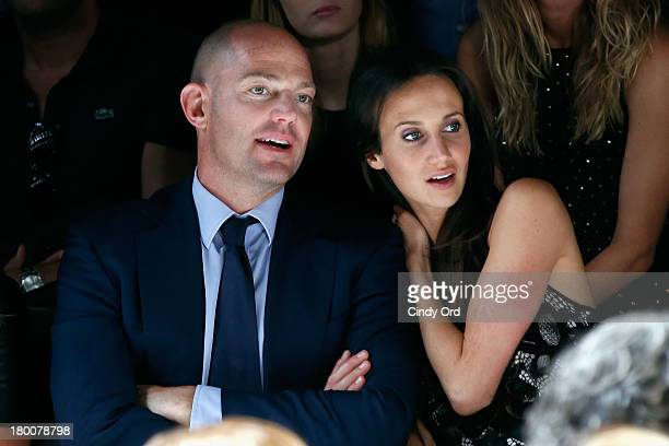 Alexander von Furstenberg and Ali Kay attends the Diane Von Furstenberg fashion show during MercedesBenz Fashion Week Spring 2014 at The Theatre at...